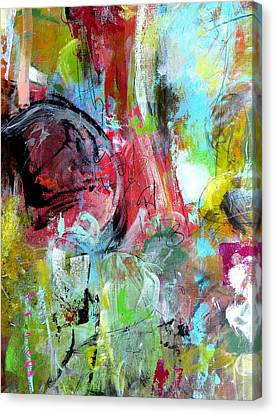 Canvas Print featuring the painting Exploration by Katie Black