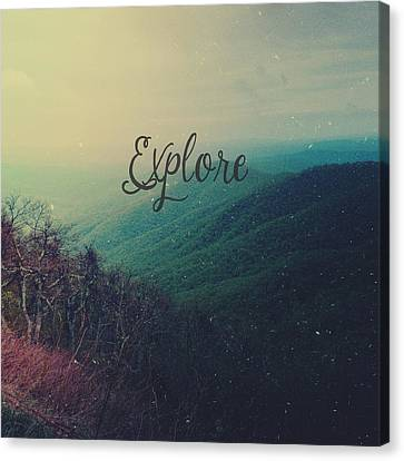 Mountain Canvas Print - Explore by Olivia StClaire