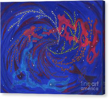 Explore Strange New Galaxies Canvas Print by Mary J Winters-Meyer