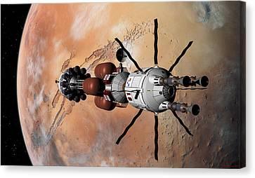 Explorer At Mars Part 1 Canvas Print by David Robinson