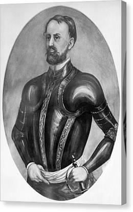 Explorer Hernando De Soto Canvas Print by Underwood Archives