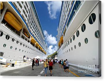 Explorer Of The Seas And Adventure Of The Seas Canvas Print by Amy Cicconi