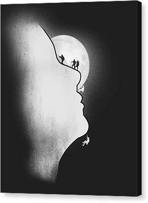 Artsy Canvas Print - Exploring The Profile by Neelanjana  Bandyopadhyay