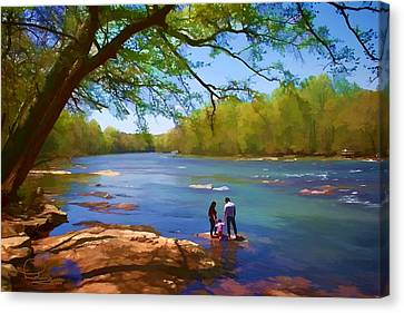 Exploring The River Canvas Print