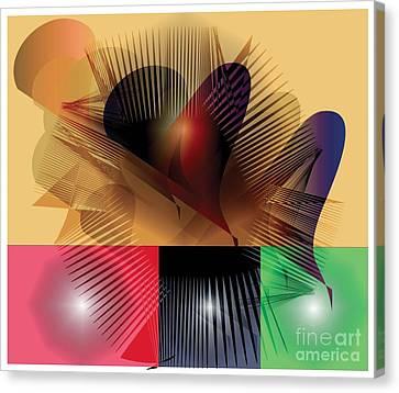 Canvas Print featuring the digital art Explosion 2 by Iris Gelbart
