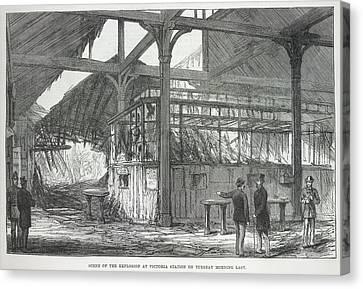 Explosion At Victoria Station Canvas Print by British Library