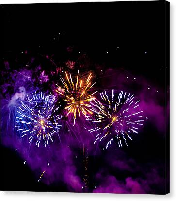 Explosions On The Fourth Canvas Print by David Patterson