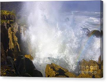 Blowhole Canvas Print - Explosive by Mike  Dawson