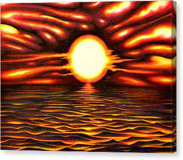 Explosive Sunset Canvas Print by Martin Roskom