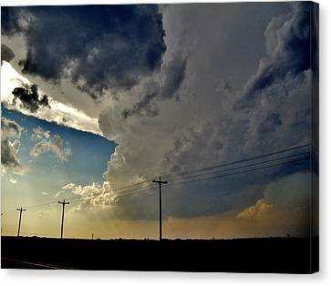 Canvas Print featuring the photograph Explosive Texas Supercell by Ed Sweeney