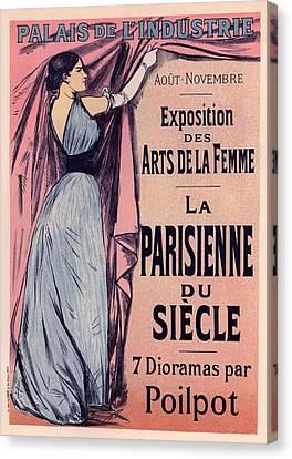 Exposition Des Arts De La Femme Canvas Print by Gianfranco Weiss