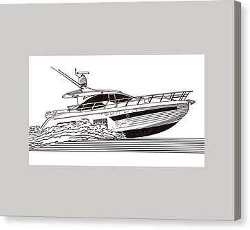 Express Sport Yacht Canvas Print by Jack Pumphrey
