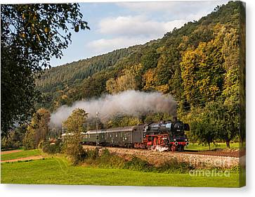 Express Train With The Pacific 01 045 Canvas Print by Christian Spiller