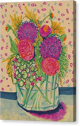 Expressive Flowers Canvas Print