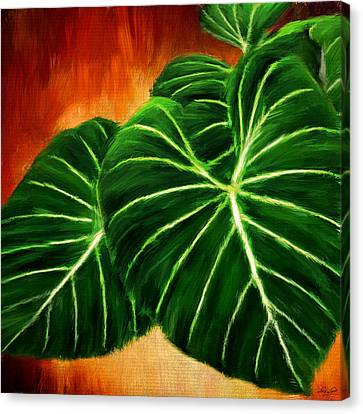 Philodendron Canvas Print - Exquisite Collection- Philodendron Gloriosum by Lourry Legarde