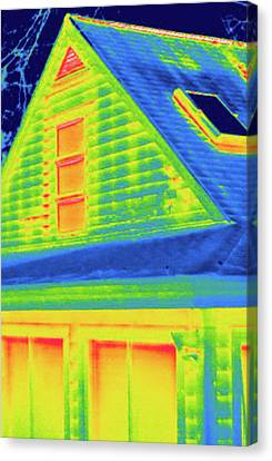 Exterior Of A House During Winter Canvas Print by Science Stock Photography