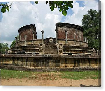 Exterior Of Polonnaruwa Vatadage Canvas Print by Panoramic Images