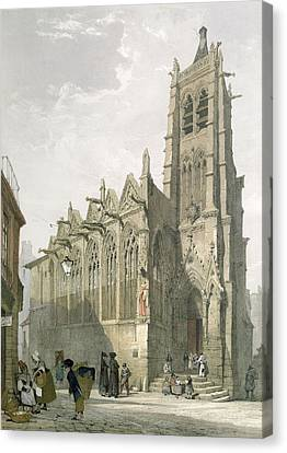 Exterior Of The Church Of St. Severin, Paris Canvas Print by Thomas Shotter Boys