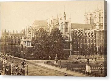 Exterior Of Westminster Abbey And St. Margarets Church Canvas Print by Artokoloro