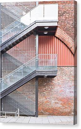 Exterior Stairs Canvas Print by Tom Gowanlock
