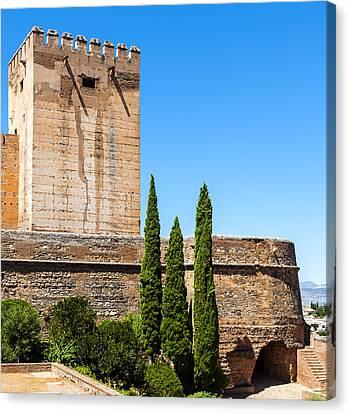 Exterior View Of Alhambra Spain Canvas Print by Caporusso Vitantonio
