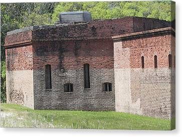 Exterior View Of Fort Clinch Canvas Print