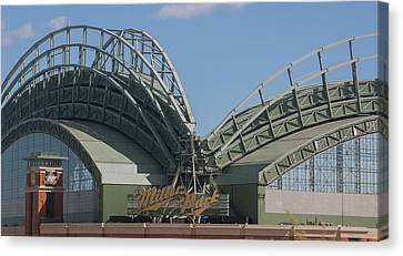 Exterior View Of The Miller Park Canvas Print by Panoramic Images