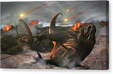 Extinction Of The Dinosaurs Canvas Print by Karsten Schneider