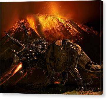 Extinction    The Second Coming Canvas Print by Jeremy Martinson