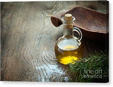 Extra Virgin Olive Oil  Canvas Print by Mythja  Photography