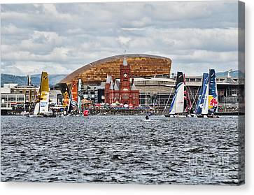 Extreme 40 At Cardiff Bay Canvas Print by Steve Purnell