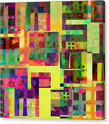 Extreme Color  Abstract Art  Canvas Print by Ann Powell