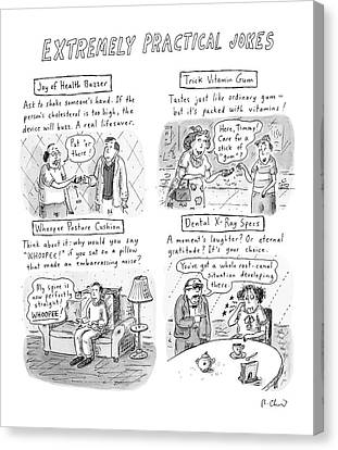 X-rays Of Canvas Print - Extremely Practical Jokes by Roz Chast