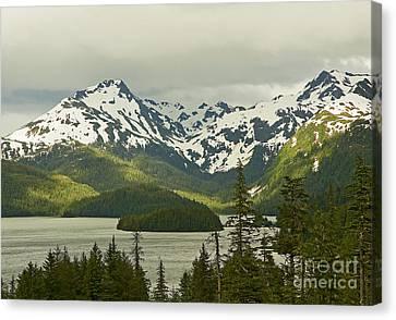 Canvas Print featuring the photograph Eyak Lake Landscape by Nick  Boren