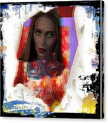 Canvas Print featuring the digital art Eye Am  by Lisa Piper