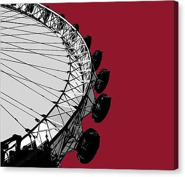 Surrealism Canvas Print - Eye - Blazing Red by Big Fat Arts