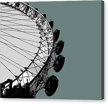 London Canvas Print - Eye - Blue Grey by Big Fat Arts