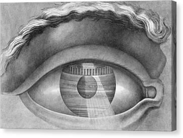 Eye Enclosing The Theatre At Besancon France Canvas Print by Claude Nicolas Ledoux