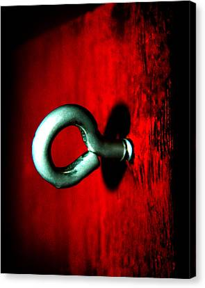 Canvas Print featuring the photograph Eye Hook by Ester  Rogers