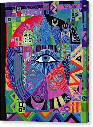 Eye Of Destiny, 1992 Acrylic On Canvas Canvas Print by Laila Shawa