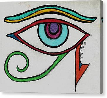 Eye Of Horus Canvas Print by Claire Decker
