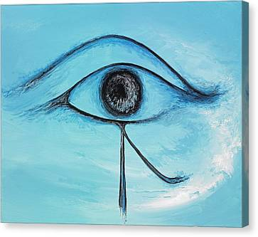 Eye Of Horus In The Sky Canvas Print by David Junod