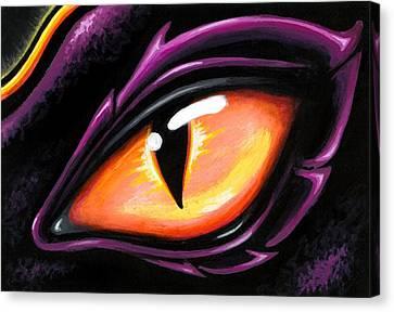 Eye Of Sun Aura Canvas Print by Elaina  Wagner