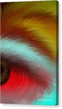 Eye Of The Beast Canvas Print by Anita Lewis