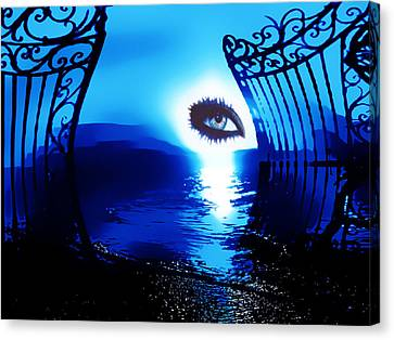 Canvas Print featuring the digital art Eye Of The Beholder by Eddie Eastwood