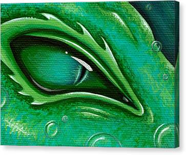 Eye Of The Green Algae Dragon Canvas Print by Elaina  Wagner