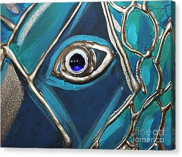 Eye Of The Peacock Canvas Print by Cynthia Snyder