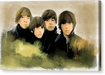 Eye Of The Storm The Beatles Canvas Print by Iconic Images Art Gallery David Pucciarelli