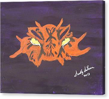 Eye Of The Tiger Canvas Print by Swabby Soileau