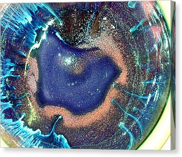 Eye Of The Universe Acqunavy Canvas Print by Richard Sean Manning